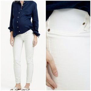 JCREW MATERNITY TOOTHPICK JEANS DENIM 29 WHITE